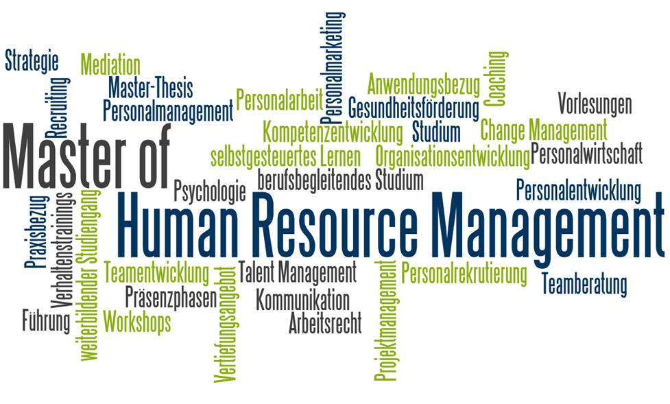 Master in Human resource management berufsbegleitender weiterbildender studiengang